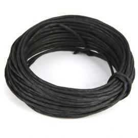 Corde en papier laitonné noir 10 mètres
