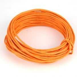 Corde en papier laitonné orange 10 mètres