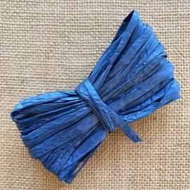 Raphia naturel bleu spécial déco 10 mètres