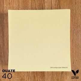 40 Serviettes ivoire 40 x 40cm biodégradables - compostables