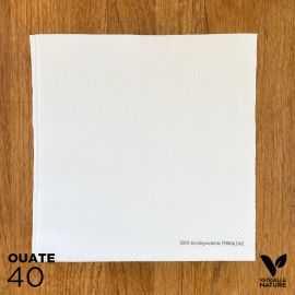 40 Serviettes blanches 40 x 40cm biodégradables - compostables