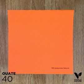 40 Serviettes orange 40 x 40cm biodégradables - compostables