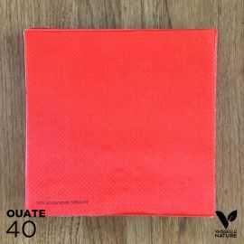 40 Serviettes rouges 40 x 40cm biodégradables - compostables