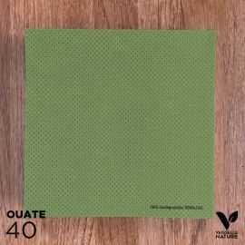 40 Serviettes tilleul 40 x 40cm biodégradables - compostables