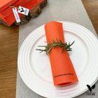 Pack 200 serviettes 40cm orange Biodégradables - compostables