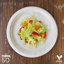 50 Assiettes pulpe de blé Biodégradables 23 cm