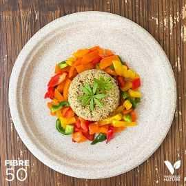 50 Assiettes pulpe de blé Biodégradables 26 cm