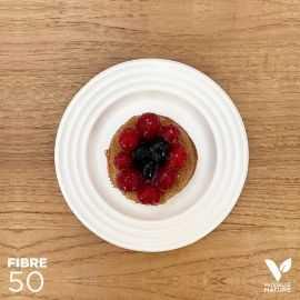 50 Assiettes 100% fibres design blanc 18cm