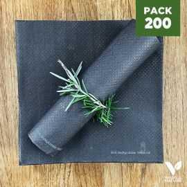 Pack 200 serviettes 40cm Granit Biodégradables - compostables