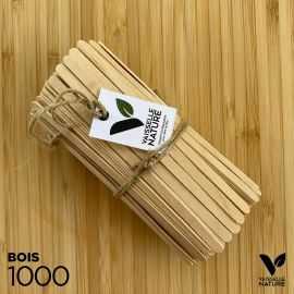 1000 Agitateurs Bois 11cm Biodégradables - compostables
