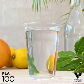 100 Gobelets PLA 23cl biodégradables - compostables