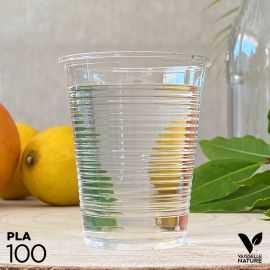 100 Gobelets PLA 20cl Biodégradables - compostables