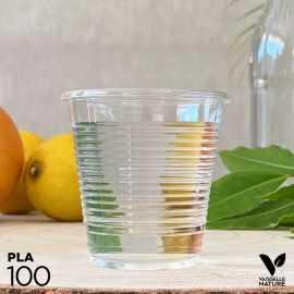 100 Gobelets PLA 16cl biodégradables - compostables