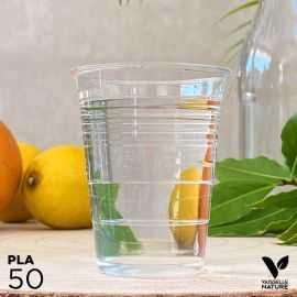 50 Gobelets PLA 20cl biodégradables - compostables