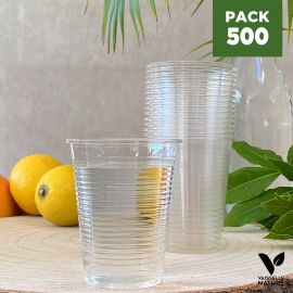 Pack 500 Gobelets 20cl PLA Biodégradables - compostables
