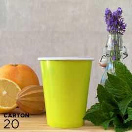 20 Gobelets 25cl verts 100% bio et compostables
