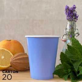 20 Gobelets 25cl bleus 100% bio et compostables