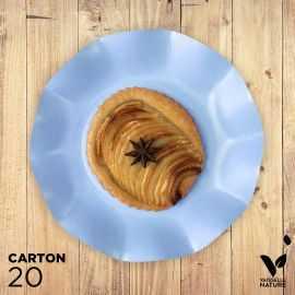 20 Assiettes bleues 21cm 100% Bio et compostables