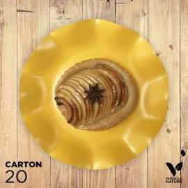 20 Assiettes jaune 21cm 100% Bio et compostables
