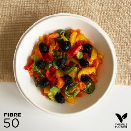 50 Coupelles 68cl 100% fibres Biodégradables - compostables et plates