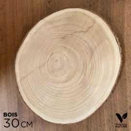 Rondin en bois 30 cm Centre de table