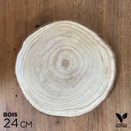 Rondin en bois 24 cm centre de table