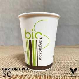 50 Gobelets Carton/ PLA 24cl biodégradable - compostable