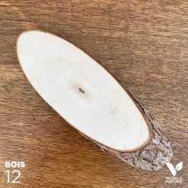 12 Mini-rondins en bois naturel centre de table 18cm