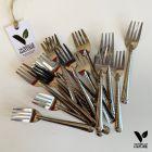 20 Mini-fourchettes métal inox verrines apéritives