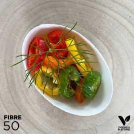 50 Verrines biseau ovale Biodégradables - compostables