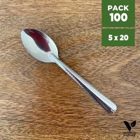 Pack 100 Mini-cuillères métal inox verrines apéritives
