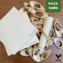 Pack 24 ronds de serviettes + 40 Serviettes ivoire Biodégradables - Compostables