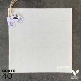 40 Serviettes en tissu-ouate beige Biodégradables et compostables 40cm x 40cm