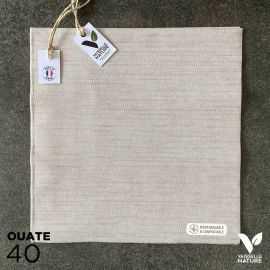 40 Serviettes en tissu-ouate chataigne Biodégradables et compostables 40cm x 40cm