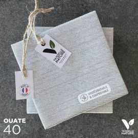40 Mini-serviettes en tissu-ouate Anthracite Biodégradables et compostables 20cm x 20cm