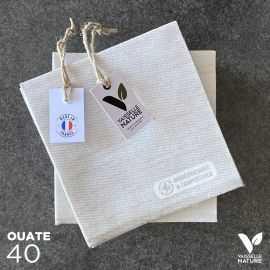 40 Mini-serviettes en tissu-ouate grises Biodégradables et compostables 20cm x 20cm