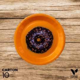 10 Assiettes orange carton 100% biodégradables 18 cm