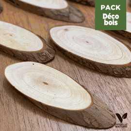 Pack centre de table Mini rondins de bois-Bambou naturel