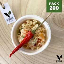 Pack 200 Mini-coupelles verrines fibres végétales biodégradables et compostables