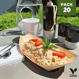Pack 20 Verrines bois 7 et 22cm Biodégradables - Compostables