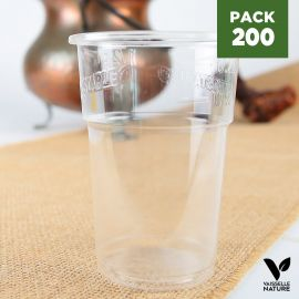 Pack 200 Gobelets bière 30 cl PLA. Biodégradables - compostables